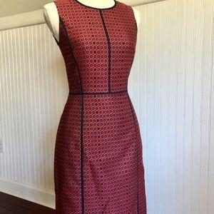 J. CREW Sheath Dress Fall Red Career Rare
